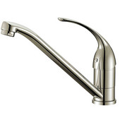 1 Hole Single-Lever Kitchen Faucet, Brushed Nickel Finish