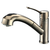 1 Hole Single-Lever Pull-Out Spray Kitchen Faucet, Brushed Nickel Finish