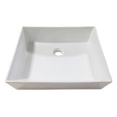 Above-Counter Ceramic Vessel Sink, 17-15/16'' W x 16'' D x 5-7/8'' H