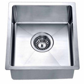 13-5/16''W x 14-7/8''D x 6-11/16''H, Undermount Single Bowl Bar Sink in Polished Satin Finish
