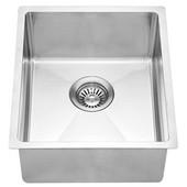 14-7/8''W x 17-1/4''D x 7-7/8''H, Undermount Single Bowl Bar Sink in Polished Satin Finish