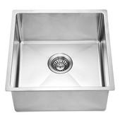 17-3/16''W x 17-3/16''D x 9''H, Undermount Single Bowl Bar Sink in Polished Satin Finish