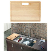 Dawn® Cutting Board in Natural Wood, 17-7/16'' W x 11-13/16'' D x 1-3/16'' H