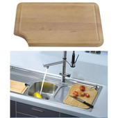 Dawn® Cutting Board in Natural Wood, 13-1/4'' W x 8-3/4'' D x 3/4'' H