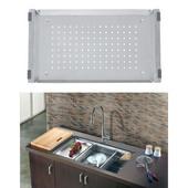 Dawn® Colander in Stainless Steel, 10'' W x 17-7/16'' D x 1-1/4'' H