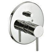 7-3/32'' Diameter x 6-5/16''Depth, Pressure Balancing Diverter Valve Trim, Brushed Nickel