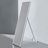 LED Backlit Free-Standing High Gloss Aluminum with IR Sensor, 16-1/2'' W x 1-3/16'' D x 63'' H