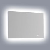 Horizontal LED Backlit Wall Mount High Gloss Aluminum with IR Sensor with Silhouette Lighting, 31-1/2'' W x 1-1/4'' D x 23-5/8'' H