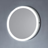 23'' LED Backlit Circular with IR Sensor in White Finish, 23-5/8'' Diameter x 1-1/4'' Depth