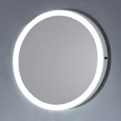 31'' LED Backlit Circular with IR Sensor in White Finish, 31-1/2'' Diameter x 1-1/4'' Depth