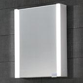 LED Backlit Vertical Single Door Medicine Cabinet with Matte Aluminum and IR Sensor, 21-5/8'' W x 5-5/16'' D x 27-9/16'' H
