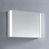 LED Backlit Horizontal Single Door Medicine Cabinet with Matte Aluminum and IR Sensor, 27-9/16'' W x 5-5/16'' D x 19-11/16'' H