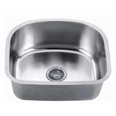 Economy Undermount 18 Gauge Single Bowl Kitchen Sink, 20''W x 18''D x 9''H