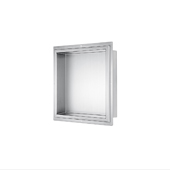 17-1/2'' H Square Stainless Steel Shower Niche, 17-1/2'' W x 4-3/8'' D x 17-1/2'' H