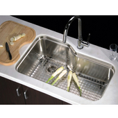 Single Series Stainless Steel Undermount Sink, 32-3/4''W x 20-1/4''D x 10-1/2''H