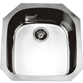 Single Series Stainless Steel Undermount Sink, 20-1/2''W x 21-1/4''D x 8''H