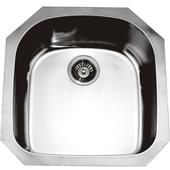 Single Series Stainless Steel Undermount Sink, 20-1/2''W x 21-1/4''D x 8''H