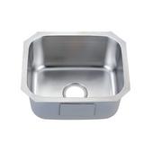 Single Series Stainless Steel Undermount Sink, 18-1/2''W x 15-3/4''D x 8-3/4''H