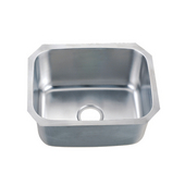 Single Series Stainless Steel Undermount Sink, 20-7/8''W x 16-7/8''D x 9-5/8''H