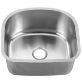 Single Series Stainless Steel Undermount Sink, 22''W x 20''D X 10''H