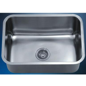 Single Series Stainless Steel Undermount Sink, 25''W x 18-1/8''D x 10''H