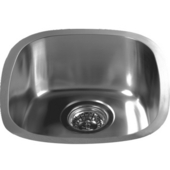 Bar Sink Series Stainless Steel Undermount Bar Sink, 13-1/2''W x 15-1/8''D X 6-1/8''H