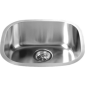 Single Sink Series Stainless Steel Undermount Sink, 18-3/16''W x 16-5/8''D X 7-1/4''H