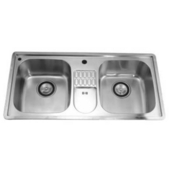 Combination Drop In Series Stainless Steel Top Mount Sink, 38-3/4''W x 19-1/8''D x 8-3/4''H