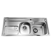Combination Drop In Series Stainless Steel Top Mount Sink, 45-7/8''W x 19-7/8''D x 9-1/2''H