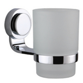 Button Series Single Toothbrush Holder, Satin Nickel