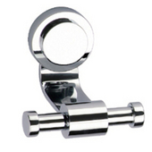 Button Series Robe Hook, Satin Nickel