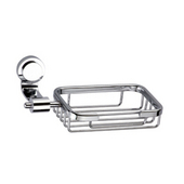 Button Series Soap Basket, Chrome