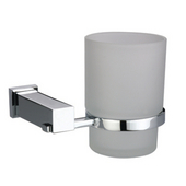 Square Series Single Toothbrush Holder, Satin Nickel