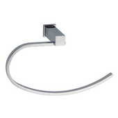 Square Series Towel Loop, Chrome