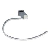 Square Series Towel Loop, Satin Nickel