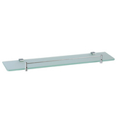 Square Series 24'' W Bathroom Shelf, Chrome