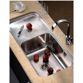 Single Series Stainless Steel Undermount Sink, 41-3/8''W x 19-3/4''D x 11-3/8''H