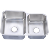 Dawn Sinks Double Bowl Sink, 32W x 20-5/8D x 10H