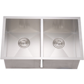 Dawn Sinks Double Bowl Sink, 29W x 18D x 10-1/2H