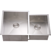 Dawn Sinks Double Bowl Sink, 33W x 20-1/2D x 10-1/2H