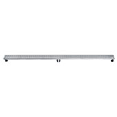 59'' W Brisbane River Series Linear Shower Drain in Polished Satin Finish, 59'' W x 3'' D x 3-1/8'' H