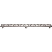 47'' Congo-Chambeshi River Series Linear Shower Drain in Polished Satin Finish, 47'' W x 3'' D x 3-1/8'' H