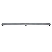 59'' Colorado River Series Tile Insert Linear Shower Drain in Polished Satin Finish, 59'' W x 3'' D x 3-1/8'' H