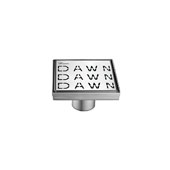 5'' Dawn Series Square Shower Drain in Polished Satin Finish, 5-1/4'' W x 5-1/4'' D x 3-3/8'' H