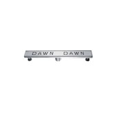 24'' Dawn Series Linear Shower Drain in Polished Satin Finish, 24'' W x 3'' D x 3-1/8'' H