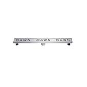 32'' Dawn Series Linear Shower Drain in Polished Satin Finish, 32'' W x 3'' D x 3-1/8'' H