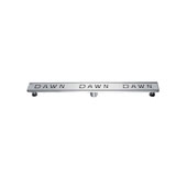 36'' Dawn Series Linear Shower Drain in Polished Satin Finish, 36'' W x 3'' D x 3-1/8'' H