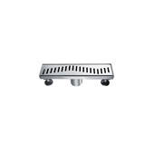 12'' Ganges River Series Linear Shower Drain in Polished Satin Finish, 12'' W x 3'' D x 3-1/8'' H