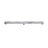 47'' Ganges River Series Linear Shower Drain in Polished Satin Finish, 47'' W x 3'' D x 3-1/8'' H