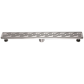 32'' W Heilongjiang Series Linear Stainless Steel Shower Drain in Polished Satin Finish, 32'' W x 3'' D x 3-1/8'' H